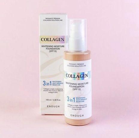 Тональная основа enough collagen 3 в 1