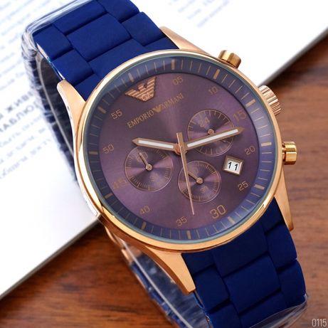 Zegarek Emporio Armani AR-5905 Gold-Blue Silicone