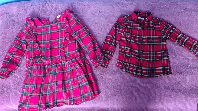 Sprzedam komplet, sukienka hm,koszula Reserved