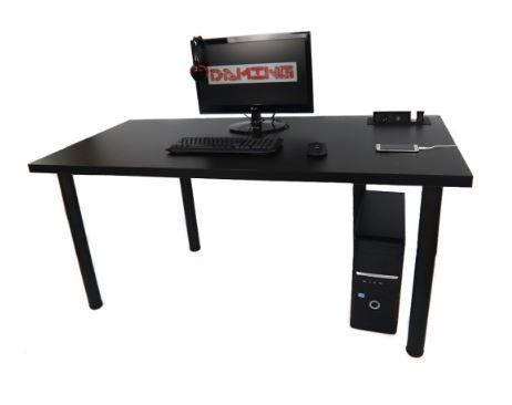 Biurko Gamingowe 160x80 Czarne Gniazdo Producent