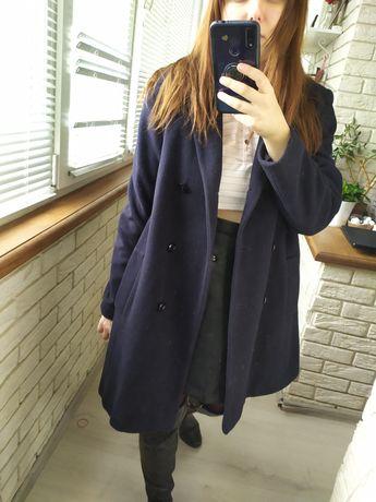 Пальто пиджак синее