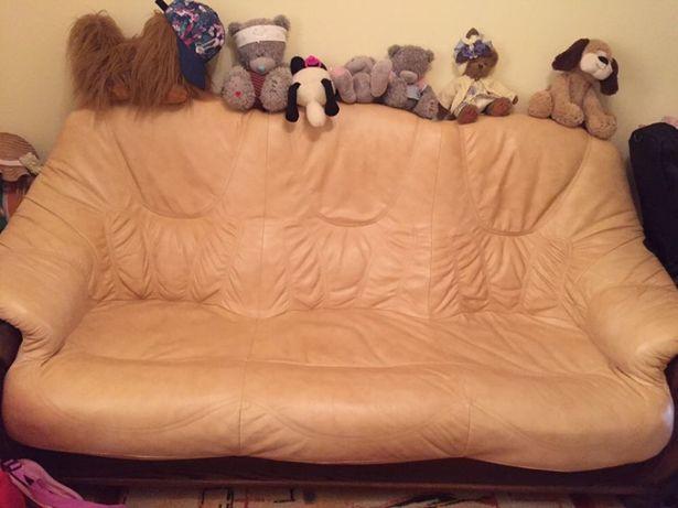 Кожаный диван , модний привезений з Німеччини, мебель , мягкая часть