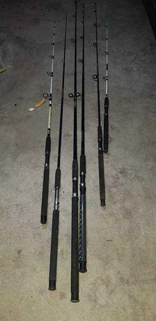 Canas de pesca conjunto de 6 unidades.