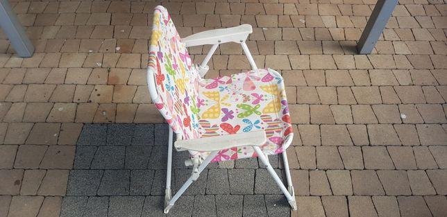 Leżak plażowy dla dziecka rozkładany