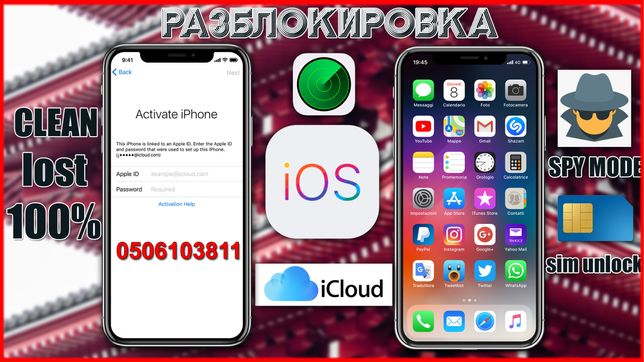 Разблокировка iCloud, iPhone, iPad, Watch, Apple ID, iCloud Unlock