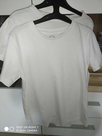 Białe koszulki na gimnastykę- Cool Club