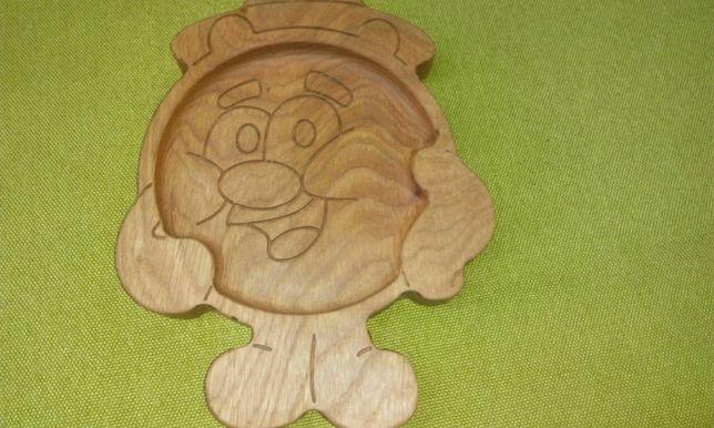 """Тарелка детская из дерева """"Копатыч"""". Детская посуда. Детские тарелки."""