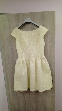 Cytrynowa sukienka koktajlowa