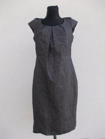bElegancka OŁÓWKOWA sukienka M