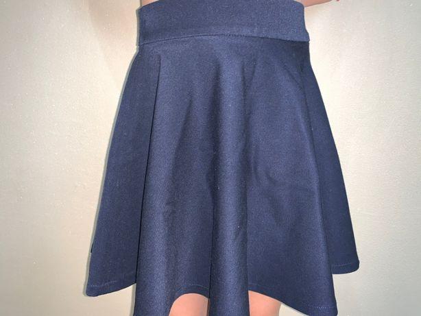 Синяя юбка, школьная юбка