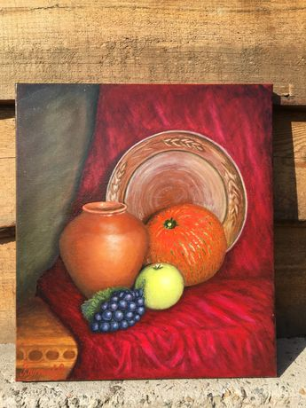 Картина на полотні, масло (осіній натюрморт)