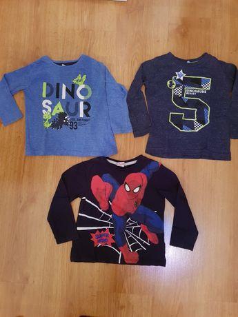 Bluzeczki 3 sztuki 10zl w tym Spiderman