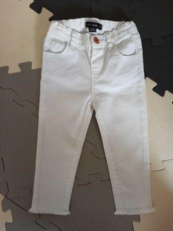Spodnie białe jeansowe Denim