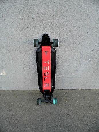 электроскейт Tesla подарок электрический лонгборд скейборд электро