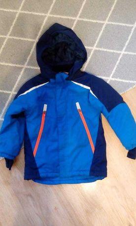 Zestaw zimowy 116,kombinezon,kurtka,spodnie narciarskie h&m,timberland