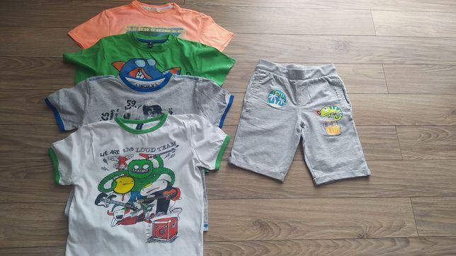 Zestaw: koszulka, t-shirt, spodenki dla chłopca w rozmiarze 128
