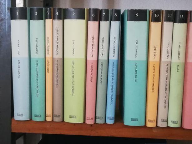 Coleção de vários títulos de literatura.