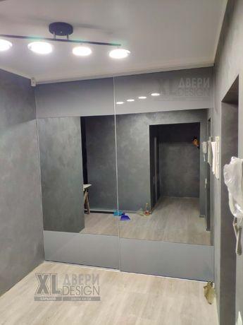 Раздвижные двери с Зеркалом, Двери для Встроенных Шкафов