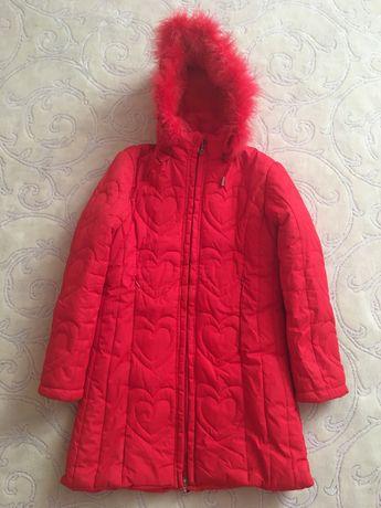 Зимнее пальто доя девочки р. 134
