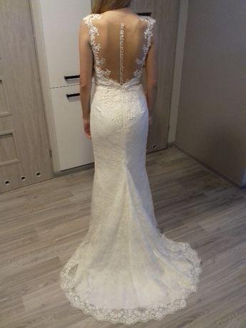 Koronkowa suknia ślubna - syrena