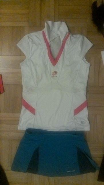 Bluzka+spodniczka badminton,tenis134-152CM