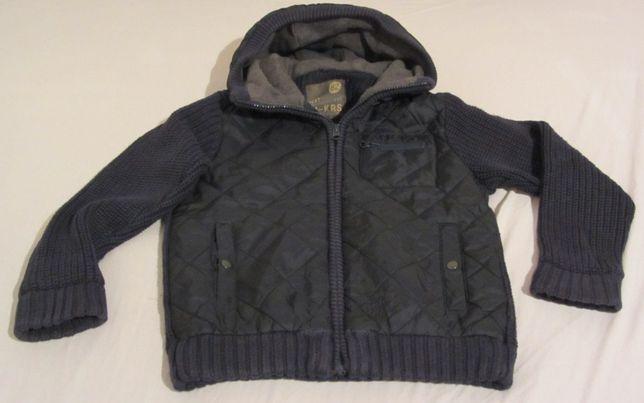 sweter bluza kurtka NEXT r.116 granatowa kaptur