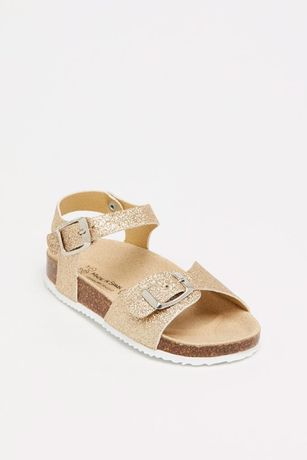 Sandálias de criança douradas (na caixa)