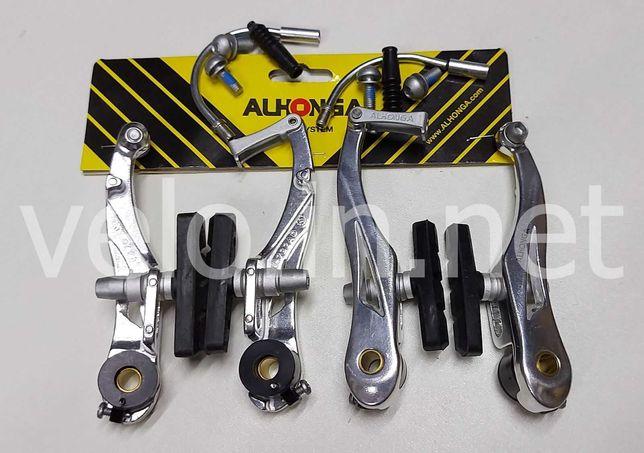 Ободные тормоза вибрейк ALHONGA  V-brake серебро  110 мм