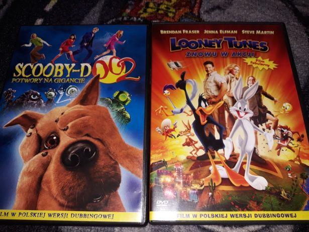 Bajki Skubi Doo Kaczor Duffy Potwory DVD 2szt SCOOBY DOO Looney Tunes
