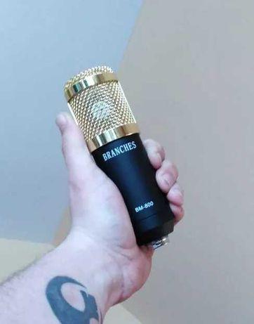 Branches mikrofon streamingowy youtube pojemnościowy profesjonalny