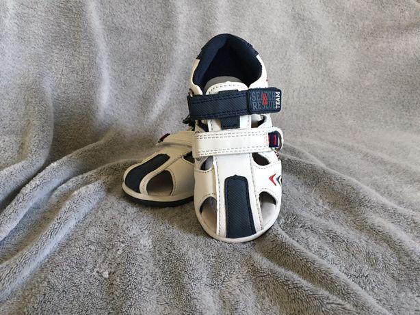 Sandałki dziecięce skórzane Smyk CoolClub rozmiar 22 jak nowe!
