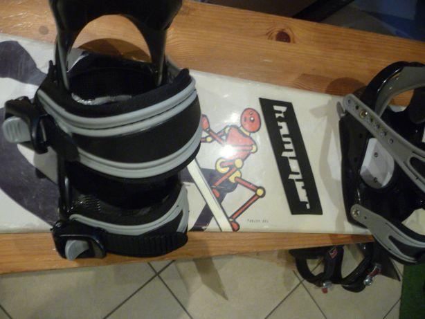 Używana deska snowboardowa WILDCUT + wiązania dł 120 cm