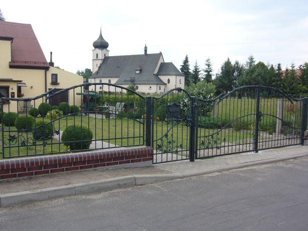 Kute ogrodzenie frontowe, brama wjazdowa, furtka