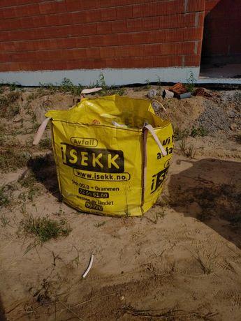 Worek big bag na gruz, odpady, drewno, smieci