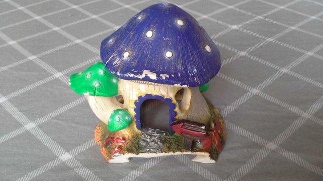 Domek Smerfa do akwarium dekoracja dekoracje 12x14x11 cm