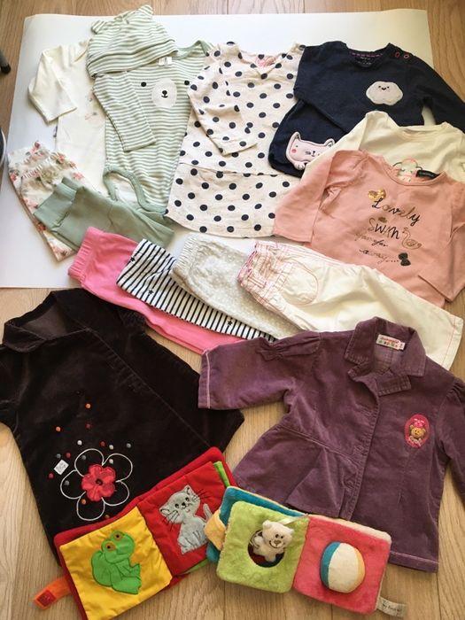 Цена за ! Набор вещей 6-9 костюм пижама кофта штаны пиджак боди 74 hm Киев - изображение 1