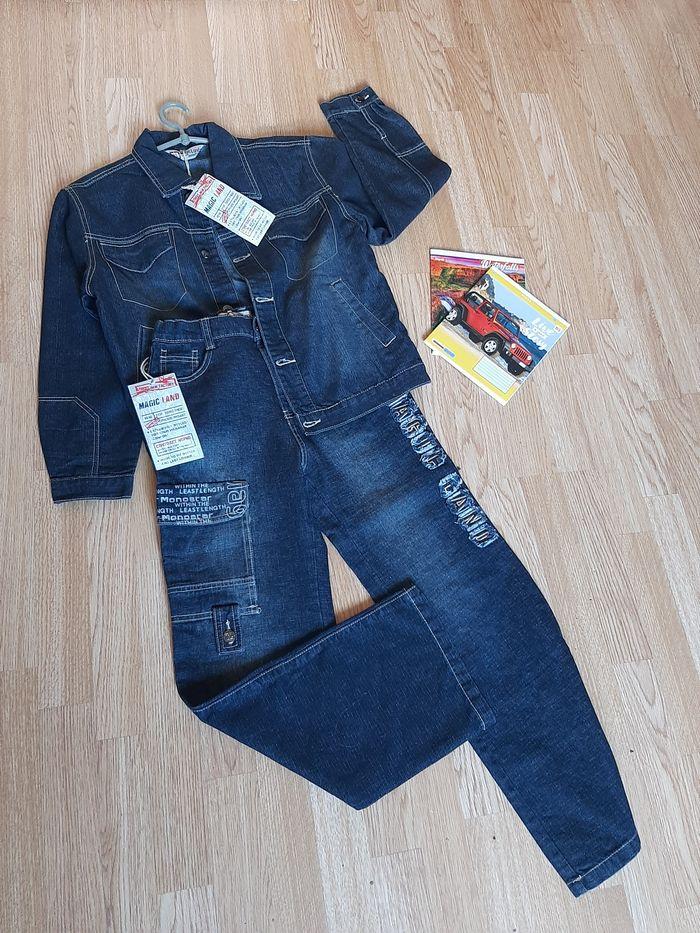 Продам новый джинсовый костюм на мальчика Артемовск - изображение 1