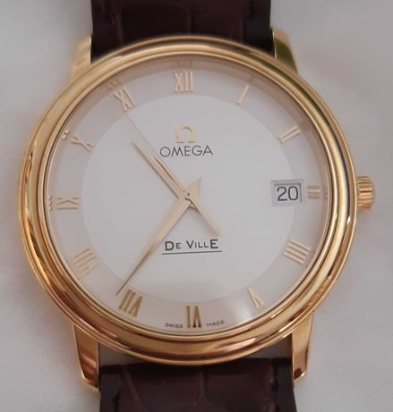 Relógio omega prestige deville 18k (rolex,longines,breitling)