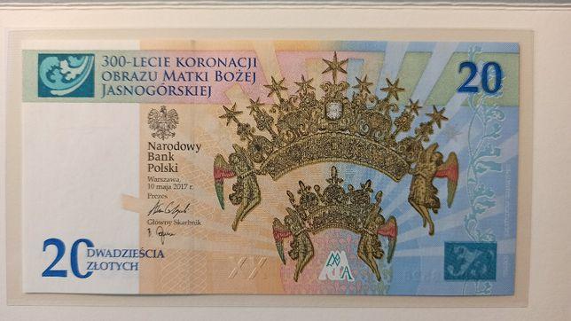 Banknot kolekcjonerski 300-lecie koronacji MB Koronacja nr 6105 folder