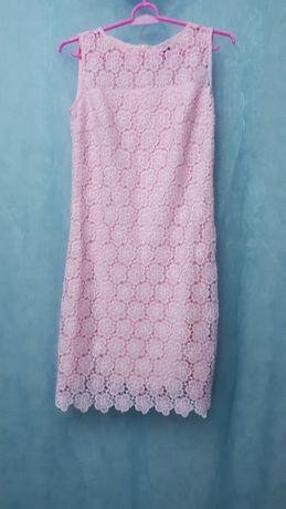 Коктельное розовое платье.