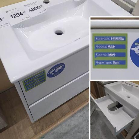 Новая подвесная тумба для ванной Preference МДФ (фурнитура Blum)