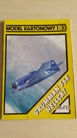 Model kartonowy Grumman F6F Hellcat i Curtiss 75 Hawk