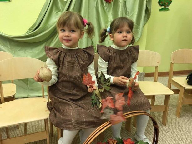 Осенне-зимние платья для двойни
