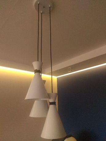 lampa wiszaca biala