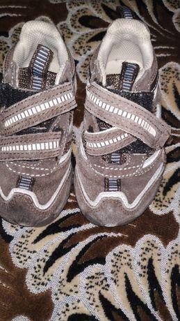 Детские кожаные спортивные туфли Next, uk 5, КОЖА, б/у