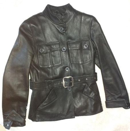 Куртка кожаная чёрная Акция 1200