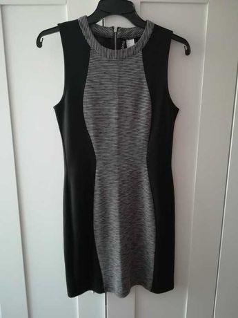 Sukienka H&M m szara czarna