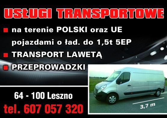 Usługi transportowe,przeprowadzki kraj oraz UE