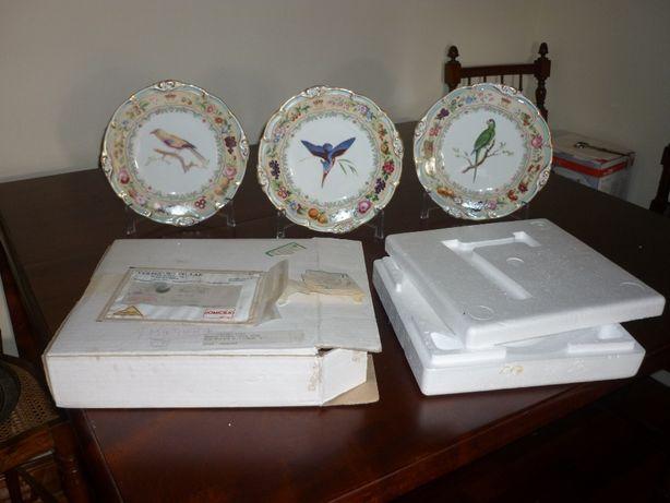 Pratos de porcelana-aves-l´heure royale