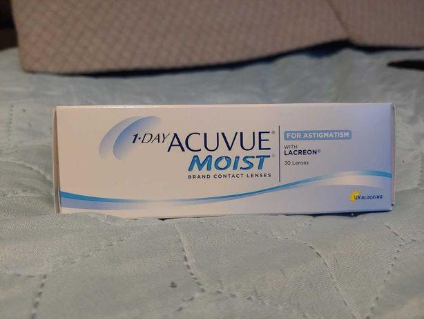 Soczewki 1 day Acuvue Moist for astigmatism astygmatyzm 25szt